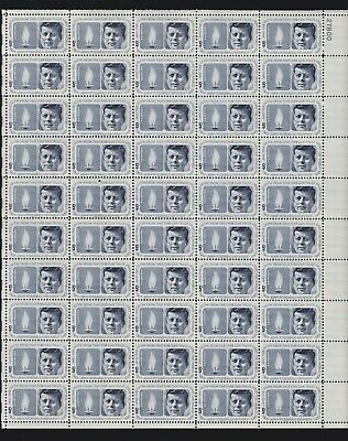 US 1246 5c John F. Kennedy Mint Stamp Sheet Mint OG NH
