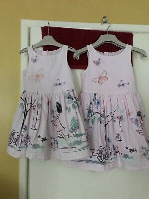 Next Girls Prom Dress Age 6 Pink. Butterflies Pretty Scene See Pics Also 3 Yrs