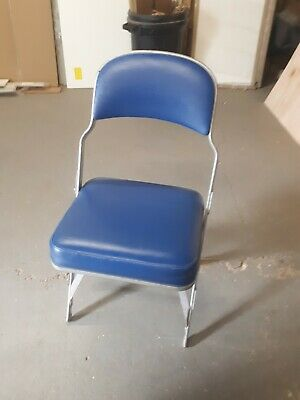 Vintage Blue Cinema Seats x 4 Folding Theatre Chairs Retro Upcycling Project