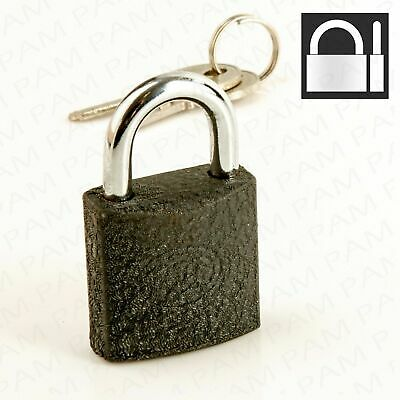 Small Mini Strong Steel Padlock Travel Suitcase Diary Lock With 2 Keys Set