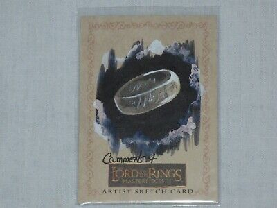 Lord Of The Rings Sketch Card By Cynthia Cummens