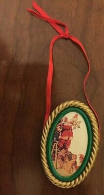 Rare Coca Cola Trim A Tree Collection Ornament Santa Claus 1990's Vintage