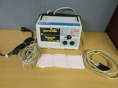 Zoll M-Series Biphasic Monitor 3 Lead  ECG Pacing AED Analyze Battery  (16845)