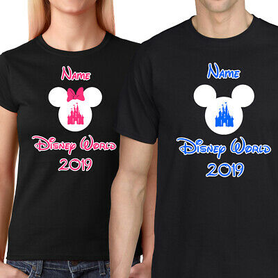 Personalised Minnie/Mickey Mouse Disney World Vacation T-Shirt Florida/Paris