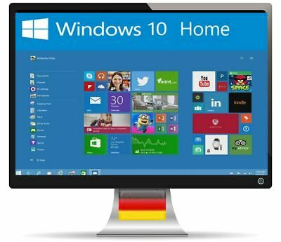 Windows 10 Home 64/32 bit Key 1 PC Vollversion Schlüssel Per Email ESD Download