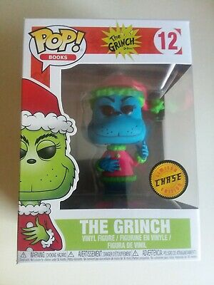 The Grinch Funko Pop CHASE #12 Books Dr. Seuss Blue Variant Rare HTF Collectible