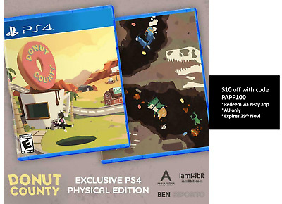 Donut County Playstation 4 PS4 Iam8bit Exclusive Limited Run New Sealed 5000 WW