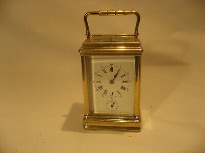 19th Century antique Gorge case strike repeat with alarm carriage clock /110