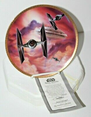 The Hamilton Collection Star Wars Collectors Plate TIE Fighters #6