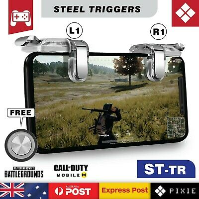 Heavy Duty Steel Mobile Phone Gaming Triggers L1R1 Shoot Aim Button Gamepad PUBG