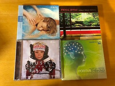 Lot of 4: Feng Shui, Sonicaid/Positive Thinking, Solitude/Soothing Massage, Musi