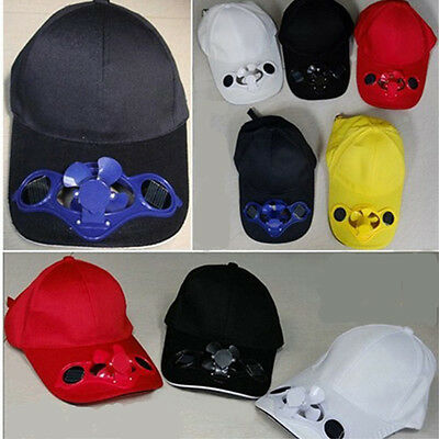 Novelty Sports Hats Sun Solar Power Hat Cap with Cooling Fan fit outdoor VA2X