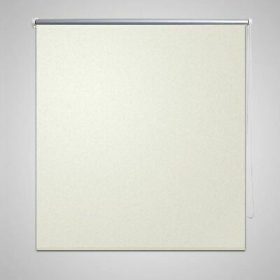 Blackout Roller Blinds 60x120cm For Windows Easy Fit & Child Safe Off White E6A5