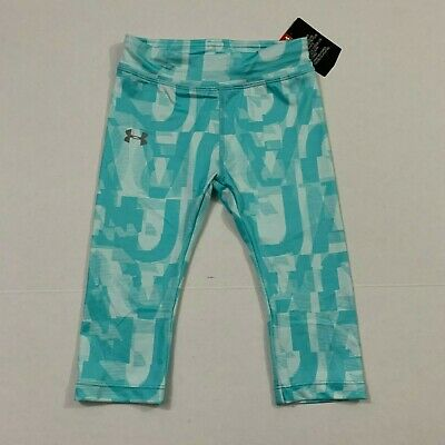 Under Armour NWT Toddler Girls Cropped Capri Leggings 4T Tropical Tide Blue