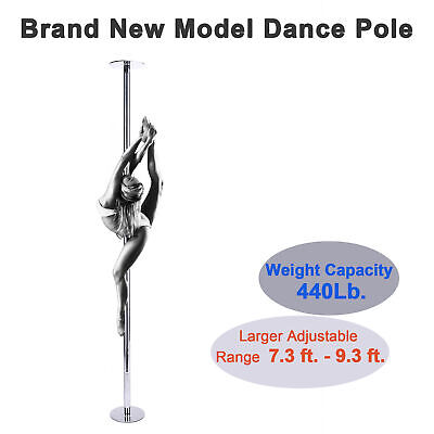 Pro Dance Pole 45mm Weight Capacity 660Lb. for Domestic Use Dancing Studios
