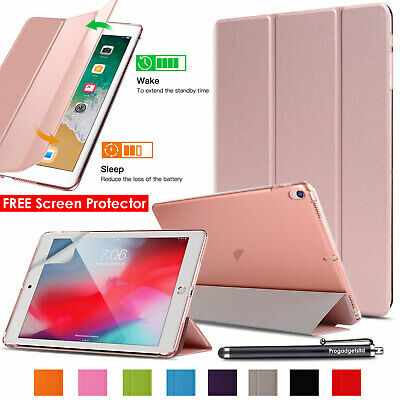 Leather Smart iPad Case Cover Stand For Apple iPad 6th Generation 2018 & Stylus