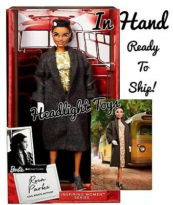 In Hand 1 Authentic Barbie ROSA PARKS Doll 2019 Inspiring Women Collectible