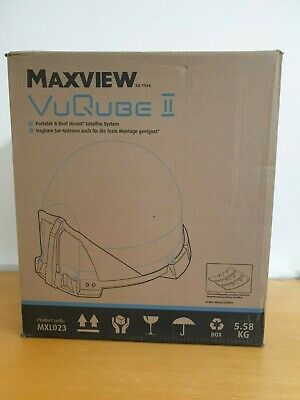 Maxview MXL023 VUQube 2 Portable Mountable Caravan Automatic Satellite Dish Kit