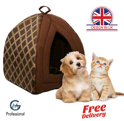 Pet House Igloo Padded Fleece Bed For Dog Cat Puppies Washable Foldable Cozy