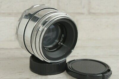 13 blades Helios 44 58mm f./ 2 2/58mm m39/M42 silver Lens mount