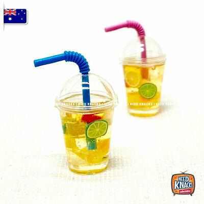 Coles Little Shop 2 Fan Favourites - Mini Ice Tea Cup with Straw - 1:12