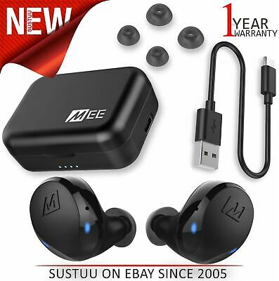 MEE Audio X10 Truly Wireless Sports in-Ear Headphones¦Ergonomic Design¦IPX5¦Blac