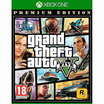 Grand Theft Auto V PREMIUM (XBOX ONE) GTA 5 Five New/Sealed Includes GTA Online