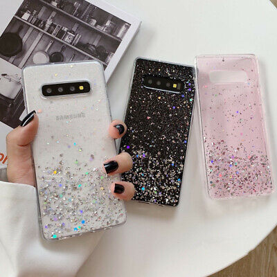 Bling Star Clear Epoxy Soft Case Cover For Samsung Galaxy Note 10 Plus S10 S9 S8