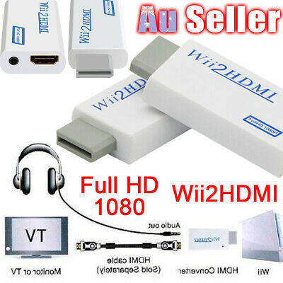 Wii HDMI Adapter Audio Video Output to HD 1080p Converter 3.5mm