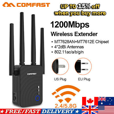 AC750 DUAL-BAND WIFI Extender Repeater Wireless Router Range