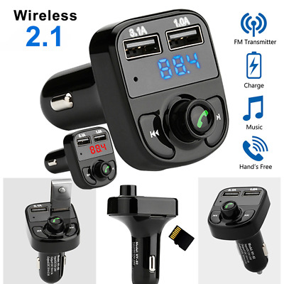 Bluetooth FM Transmitter Car Kit Wireless USB Charger Radio Adapter MP3 Player
