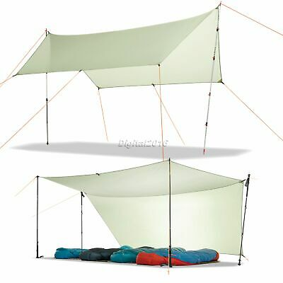 Outdoor Camping Shadow Shelter Pop Up Awning Waterproof Backpacking Lightweight