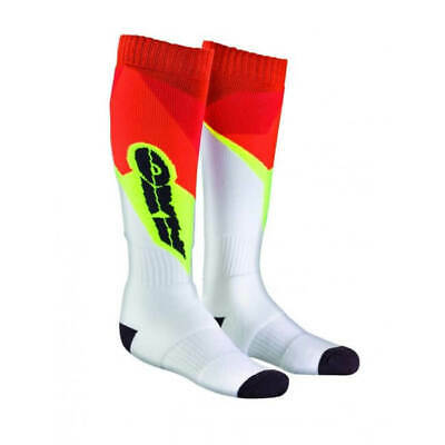 AXO Motocross Socks - White Red Yellow - One Size - Motocross, Enduro, Trials