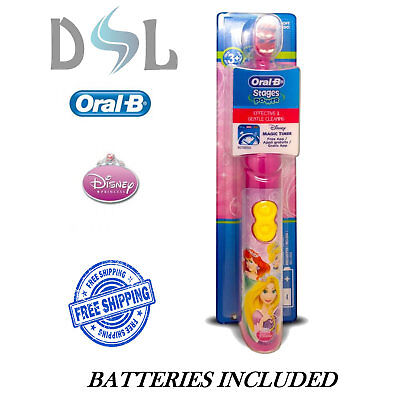 Oral B Braun DB3010 STAGES POWER Kids Girls Disney Princess Battery Toothbrush