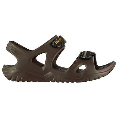Mens Crocs Swiftwater Sandals In Espresso/Black Size UK 7 EUR 41-42 ^