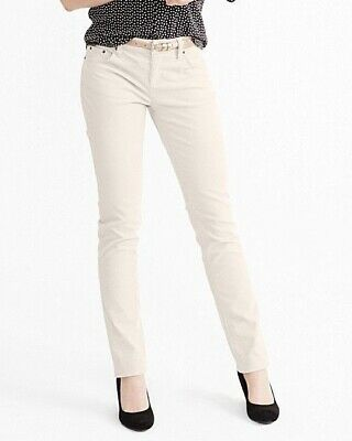 NEW NWT Garnet Hill Women's Slim Five-Pocket Cords, Size 02P, Silver Gray; $88