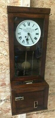 Antique English Time Recorder Clock, Machine Age [5476]
