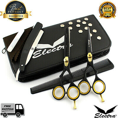 "Professional Barber Hairdressing Scissors & Thinning 5.5"" Set In JAPANESE STEEL"