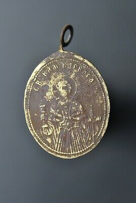 Ancient icon-pendant Barbara and Feodosy and Antony 100%original