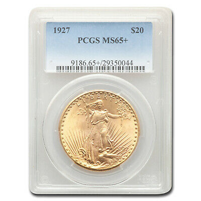 1927 $20 St. Gaudens Gold Double Eagle MS-65+ PCGS - SKU#151888
