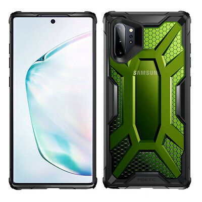 Galaxy Note 10 Plus Case,Poetic Scratch Resistant Clear Bumper Cover (Green)