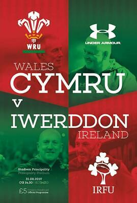 * WALES v IRELAND (RUGBY INTERNATIONAL - 31st August 2019) *