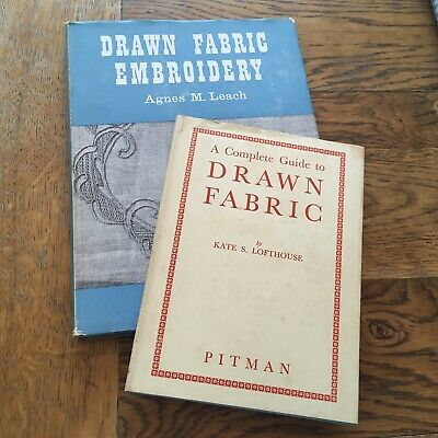Complete Guide to Drawn Fabric / Drawn Fabric Embroidery 2 Hardback Books