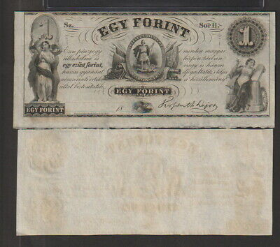 Hungary 1 Forint Banknote 1852 Uncirculated Condition Cat-S-141-R-1