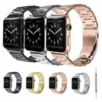 Metal 38mm/42mm Band Adjust Stainless Steel For Apple iWatch Series 4/3/2/1