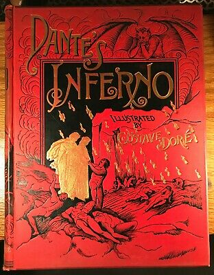 Antique Dante S Inferno Book Illustrated By Gustave Dore