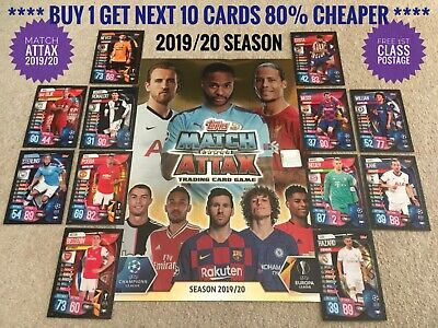 2019/20 Match Attax Cards Buy 2 Get 4 Free Champions League 100 Club 19/20