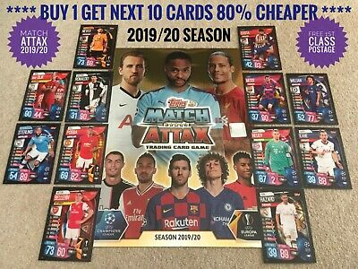 2019/20 Match Attax Champions League Cards Buy 1 Get 10 80% Less, 100 Club 19/20