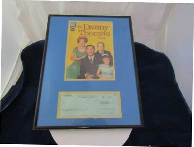 Danny Thomas Show 1961 Comic Cover Production Co Signed Check Framed !!