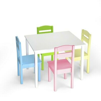 Groovy 3 Piece Crayon Kids Table Chairs Set Wood Children Ocoug Best Dining Table And Chair Ideas Images Ocougorg